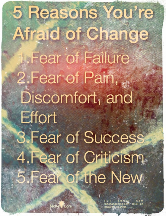 Afraid of change?
