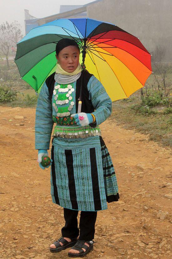 hmong girl, province of vietnam.