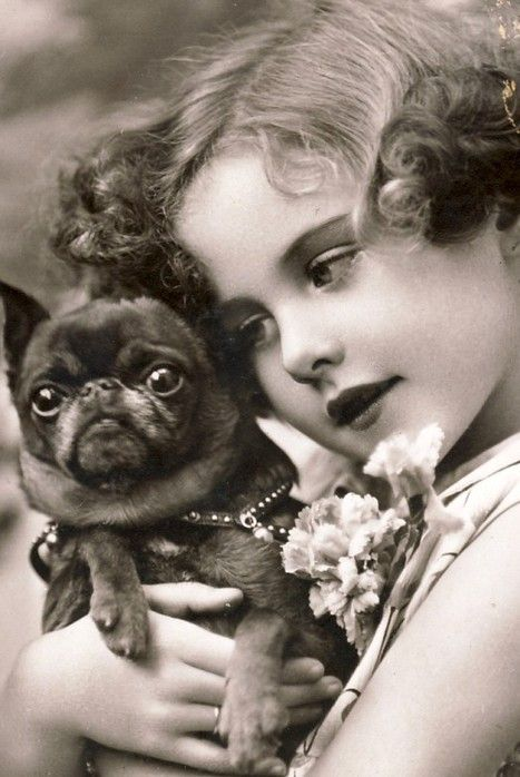Utterly adorable vintage puppy dog preciousness. #dog #vintage #child #girl #portrait #cute #puppy #animals #pets