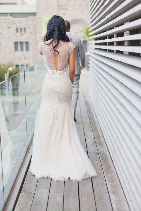 white glamorous gown .......love