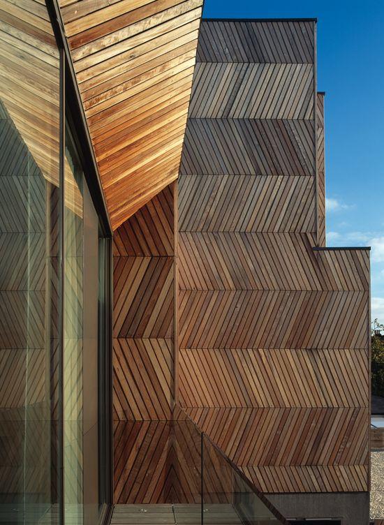 timber boarding zigzag facade