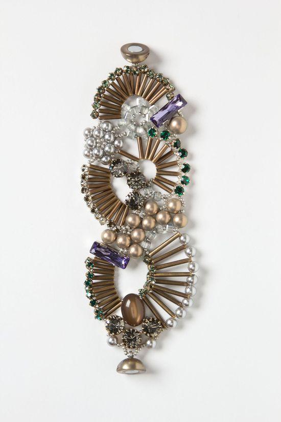 brass, swarovski crystal and glass