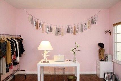 Pastel pink office inspiration.