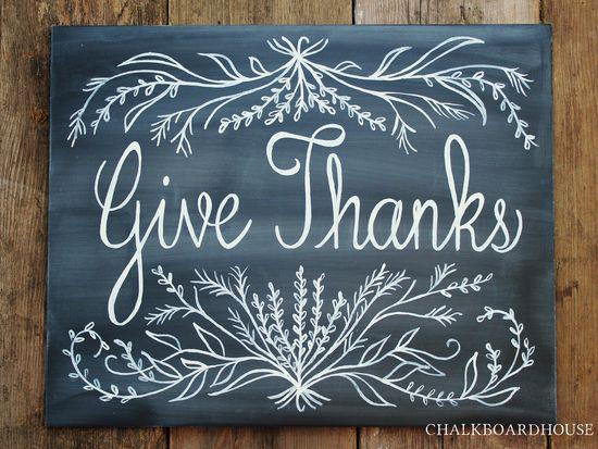 handpainted chalkboard sign