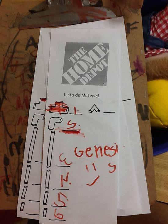 Home Depot- order forms -Julia Zepeda