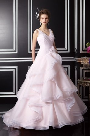 Pink tulle wedding gown by Jasmine Couture