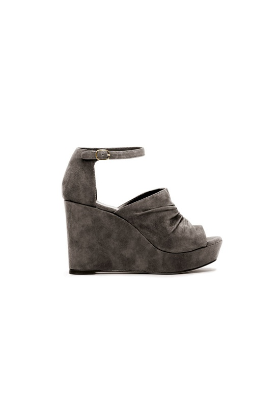 fall 2012, Tila March, shoes, wedges, sandals, gray