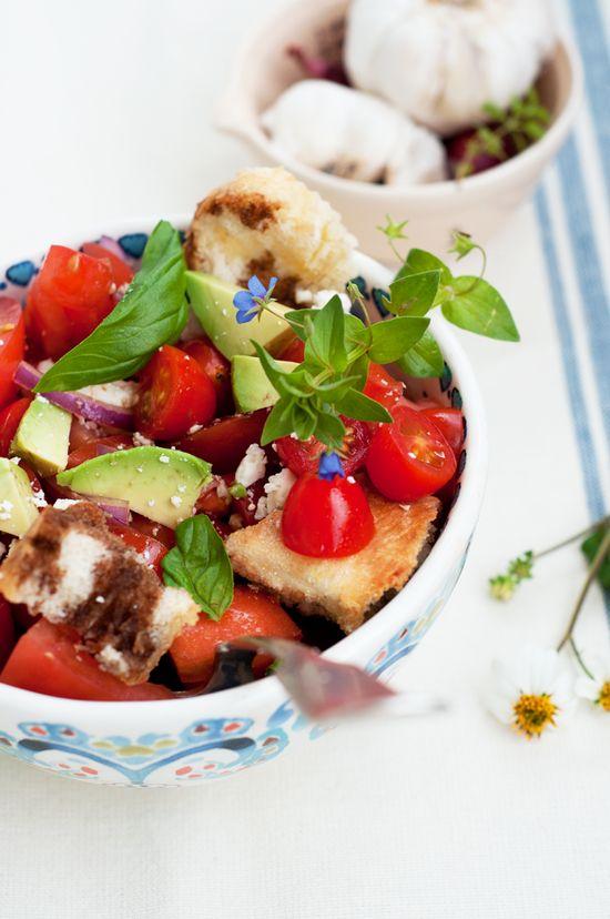 Tomato, Avocado & Gorgonzola Salad  by marshallsabroad #Salad #Tomato #Avocado