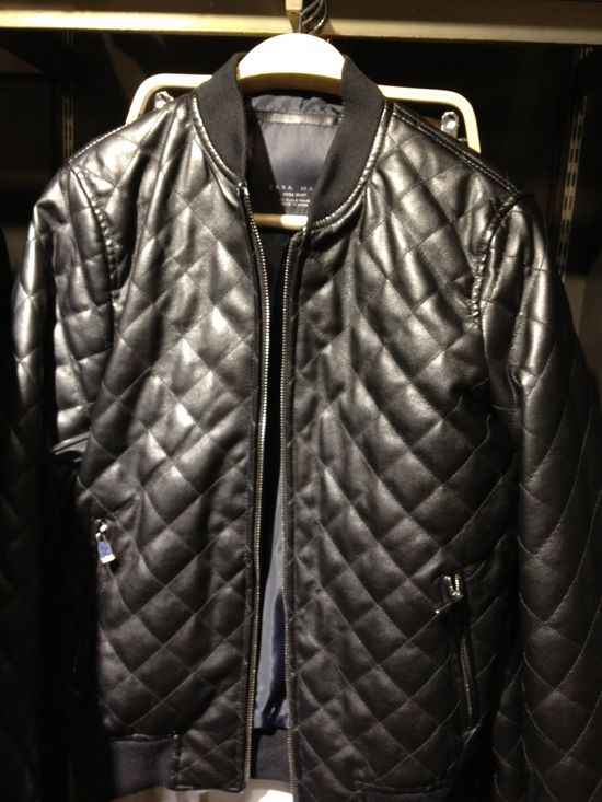 Zara Men's Black Quilted Jacket