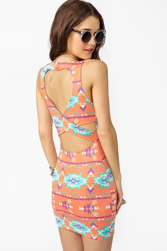 Cutout Dress, WANT