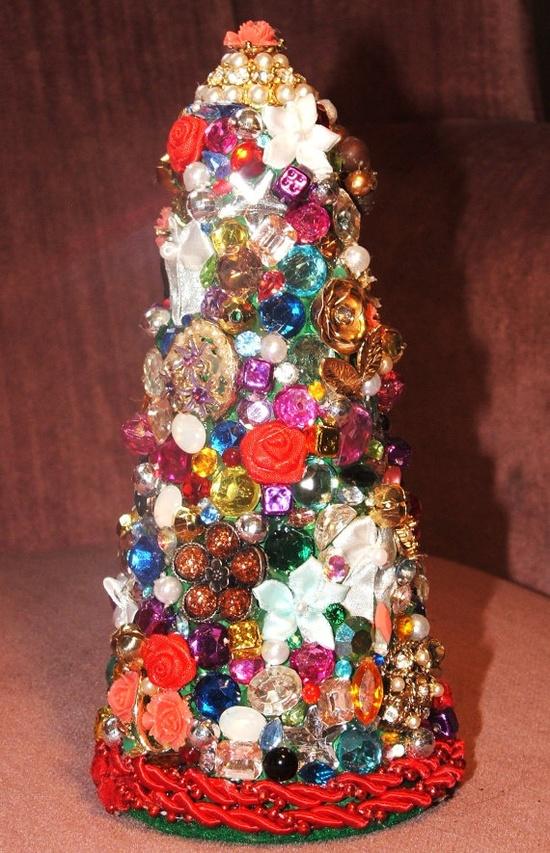 Vintage Jeweled Christmas Tree