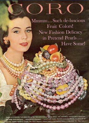 1964 Coro costume jewelry ad.
