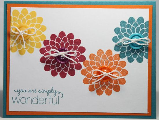 All Occasion Stamped Flower Stampin Up Handmade Card