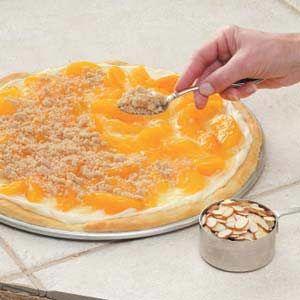 Peaches 'n' Cream Pizza - this looks delicious!