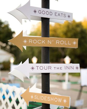 Let guests know how they can spend their time between the ceremony and reception with a few handmade signs