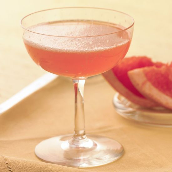 Pink Mimosa Recipe. Classic mimosas get a fresh twist -- and a pretty, rosy hue -- when they're mixed with pink grapefruit juice instead of the usual orange juice.