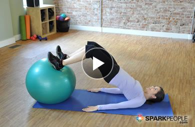 Short and sweet!! 5-Minute Booty Workout with Ball