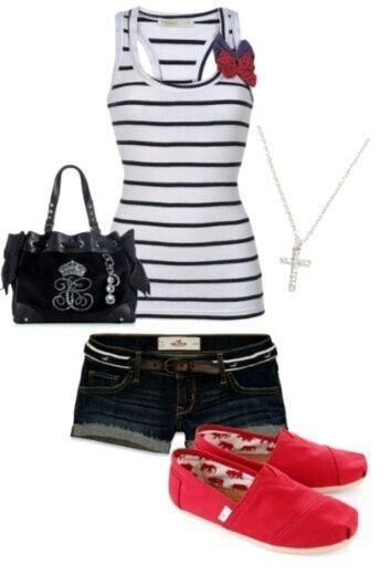 Cute summer outfit- love it all except the shoes