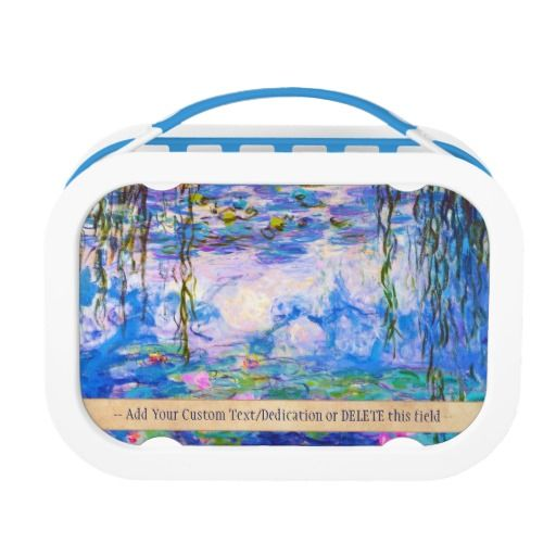 Water Lilies Claude Monet oil painting art Lunchboxes