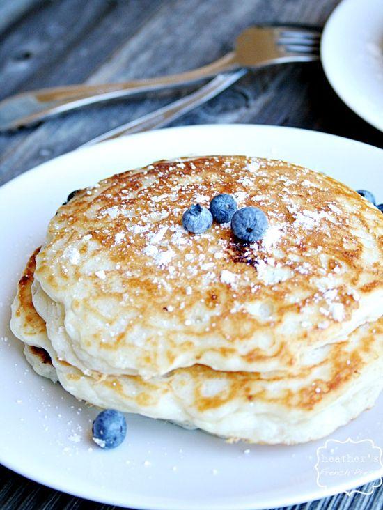 "The BEST ""buttermilk"" Blueberry Pancakes {using Greek yogurt} - Heather's French Press"