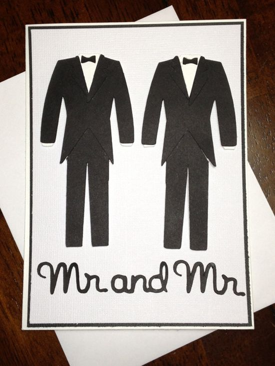 Handmade Same Sex Wedding Card Find out how to plan your unique and not cookie cutter wedding with Pinterest: bridalmentor.com/...