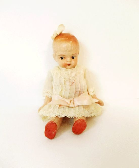 Vintage Porcelain Baby Doll  Original by UrbanRenewalDesigns, $48.00