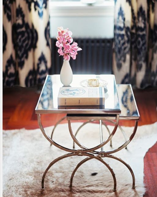 Mirrored Nesting Tables - By Home Decorating