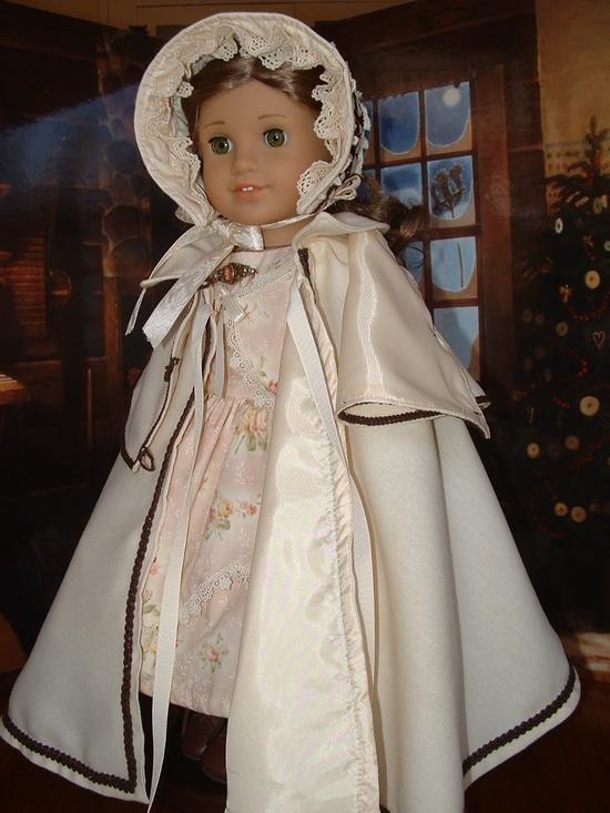 Wish I had....American Girl 1850s Ivory Wool Cloak, Peregine, Bonnet Civil War era. $149.00, via Etsy.