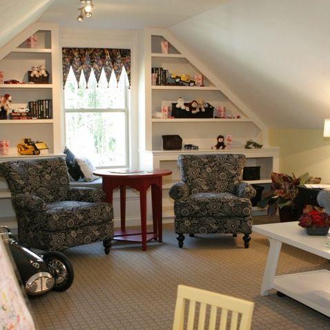 Family Room Design Ideas for the Attic