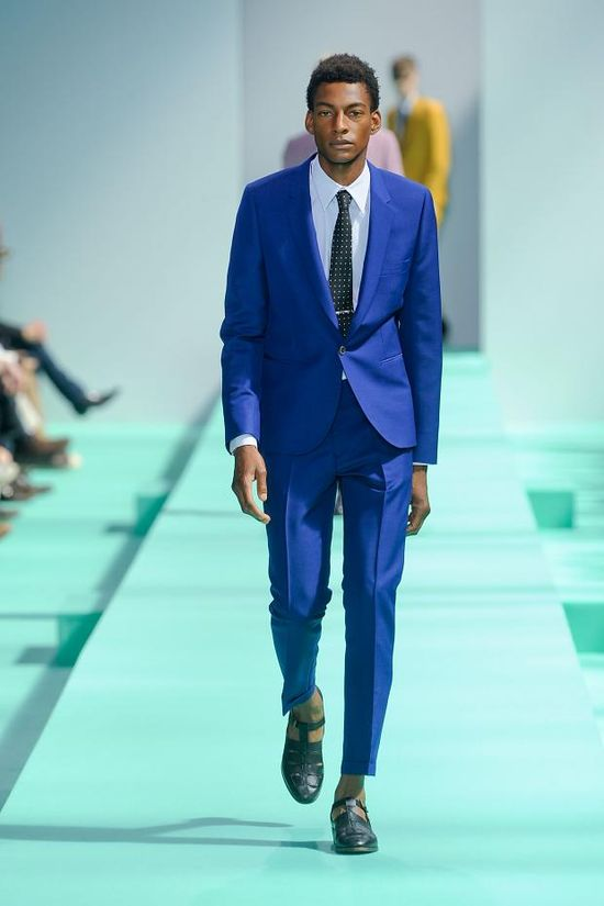Cobalt blue mens suit at Paul Smith spring 2013
