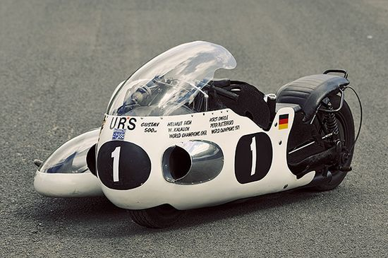One of the greatest sidecar racers of all time was the German Helmut Fath.