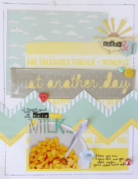 #papercraft #scrapbook #layout    Just Another Day by Amy Kingsford