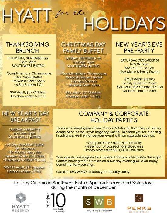 Hyatt Holiday Event Poster!
