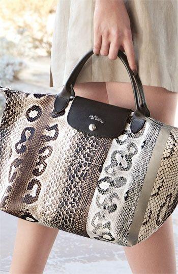 "Lomgchamp ""reptiligne toile' handbag - #Awesome Handbags"