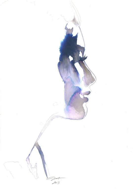 Looking Forward, #illustration #watercolor by Jessica Durrant