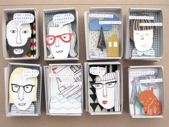 """by Kim Welling - """"3D illustration in all those plastic boxes I have. Art quotations?"""