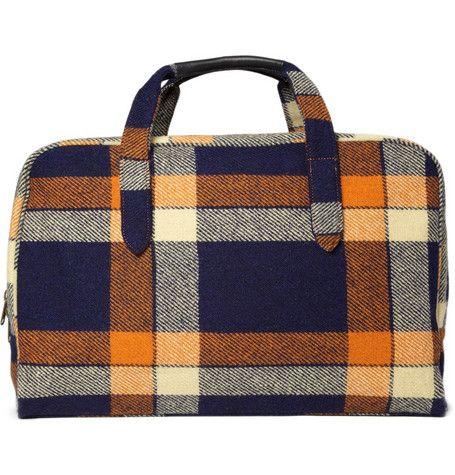 // A.P.C. Plaid Weekend Bag
