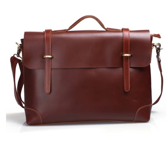 Genuine Leather Briefcase - Leather - Trend Uncovet