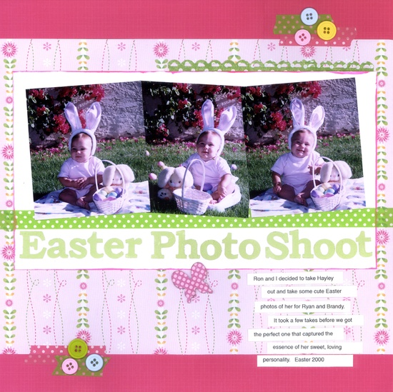 Easter Photo Shoot - Scrapbook.com  So adorable!