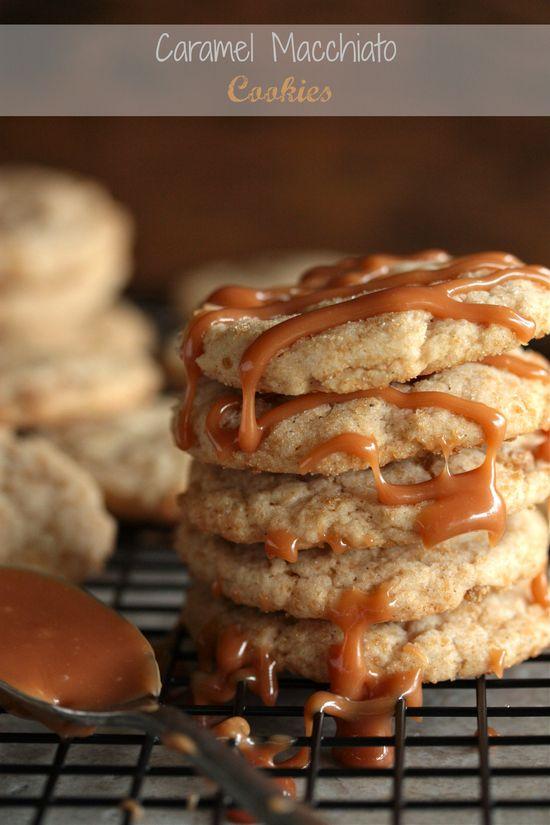 Caramel Macchiato Cookies - my favorite drink @ Starbucks, this cookie has espresso powder in it. DEVLIN AND ALLAN