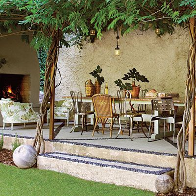 Provide a Cozy Place to Perch < Before and After Patio Makeover - Southern Living