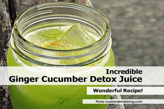 Interesting Post from our sister site Health Tips Watch: Incredible Ginger Cucumber Detox Juice - www.healthtipswat...