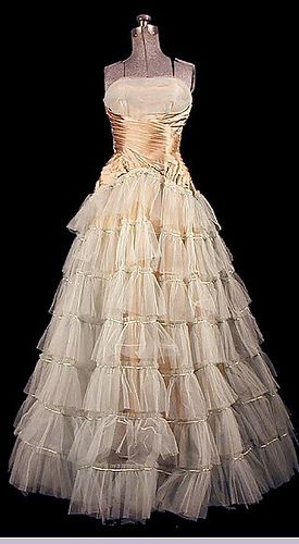 1950s ball gown