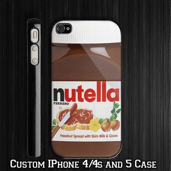 Nutella custom iPhone 4 4s Case iPhone 5 Case by paradisestore, $14.99