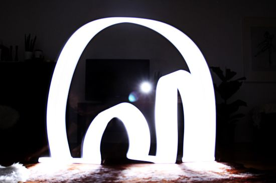 Light graffiti elephant