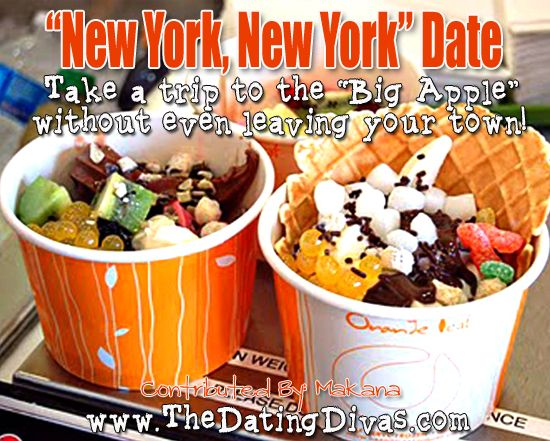 """""""New York"""" Date Night - Take a trip to the """"Big Apple"""" without even leaving your town!  www.thedatingdiva... #creativedates #datenight"""