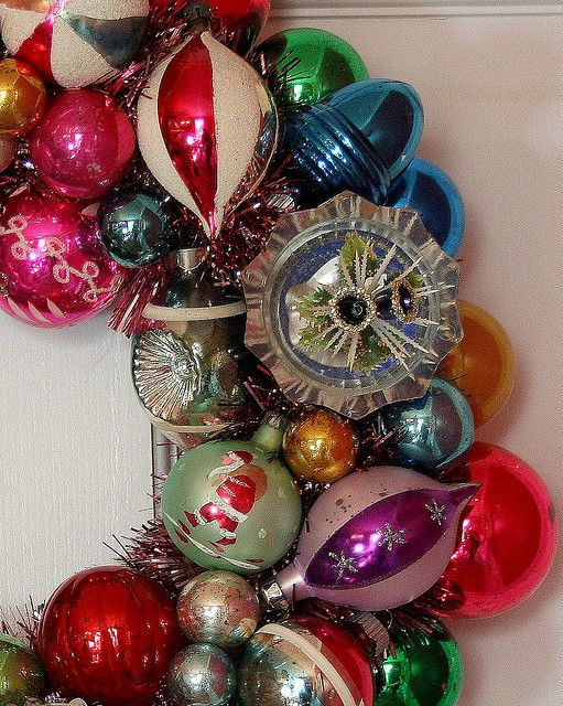 I love vintage Christmas ornaments!
