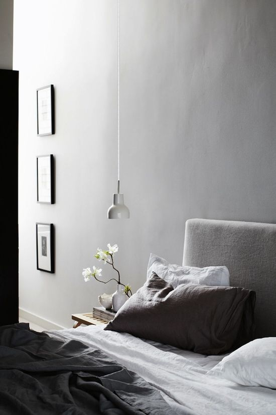 Lovely grey bedroom.