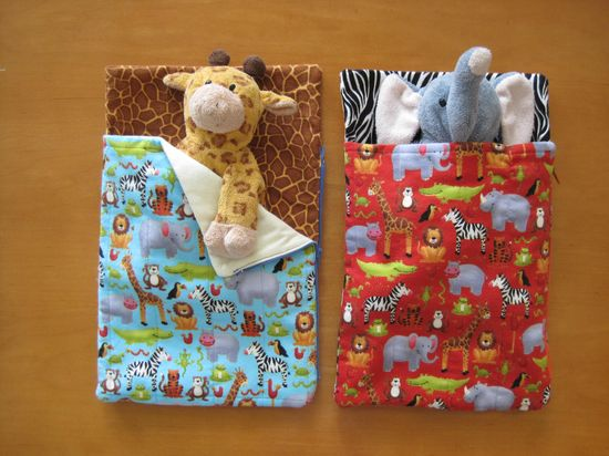 Tutorial/Template: Doll/stuffed toy sleeping bags