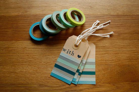 masking tape tags